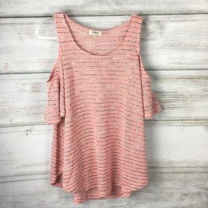 UMGEE USA Boutique Cold Shoulder Top Blouse Shirt
